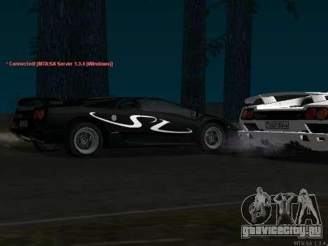 Lamborghini Diablo SV v2 для GTA San Andreas вид сзади слева