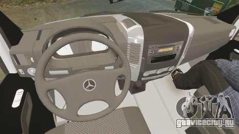 Mercedes-Benz Sprinter Spanish Television Van для GTA 4 вид сзади