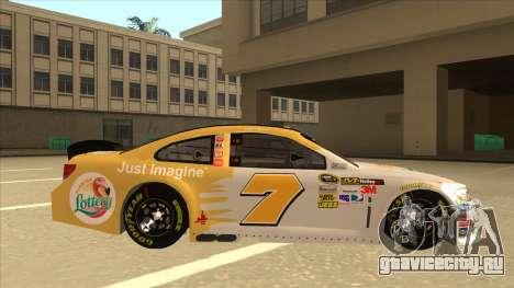 Chevrolet SS NASCAR No. 7 Florida Lottery для GTA San Andreas вид сзади слева