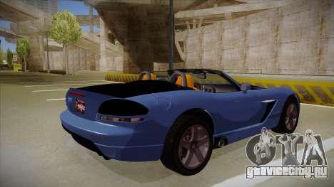 Dodge Viper v1 для GTA San Andreas вид справа