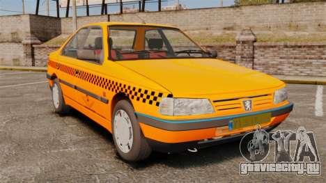 Peugeot 405 GLX Taxi для GTA 4