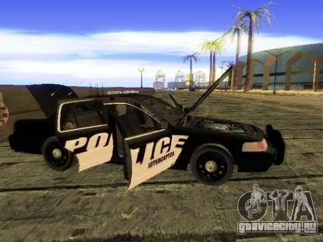 Ford Crown Victoria Police Interceptor для GTA San Andreas вид сзади