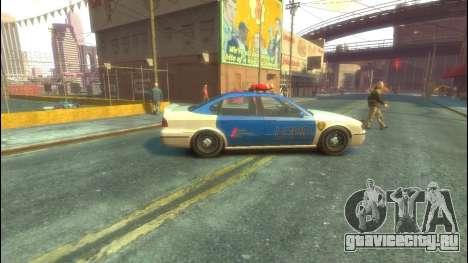 Police из GTA 5 для GTA 4 вид сзади слева