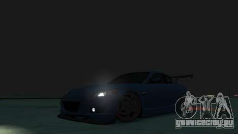 Mazda RX-8 R3 для GTA 4 вид изнутри