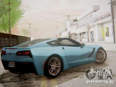 Chevrolet Corvette C7 Stingray 2014 для GTA San Andreas вид сзади слева