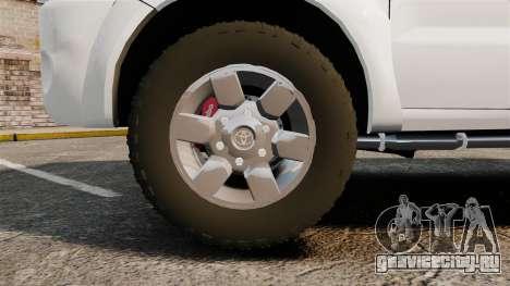 Toyota Hilux Croatian Police v2.0 [ELS] для GTA 4 вид сзади