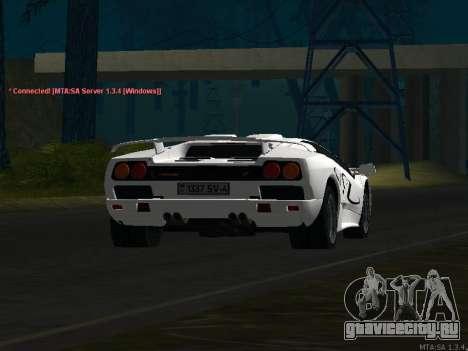 Lamborghini Diablo SV v2 для GTA San Andreas вид сбоку