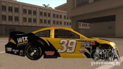 Chevrolet SS NASCAR No. 39  Wix Filters для GTA San Andreas вид сзади слева