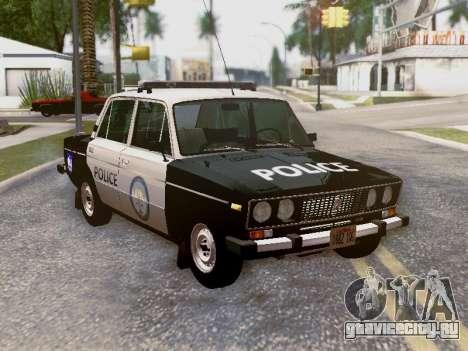 ВАЗ 2106 Полиция Лос Сантос для GTA San Andreas салон