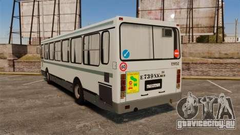 ЛиАЗ-5256 45-01 для GTA 4 вид сзади слева