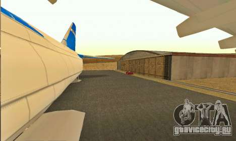 Andromada GTA V для GTA San Andreas вид сзади