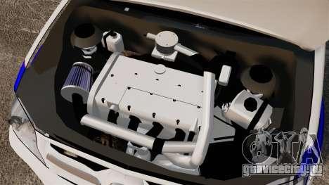 Toyota Hilux Croatian Police v2.0 [ELS] для GTA 4 вид изнутри