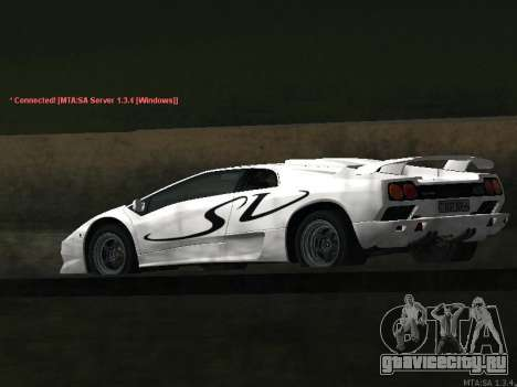 Lamborghini Diablo SV v2 для GTA San Andreas вид изнутри