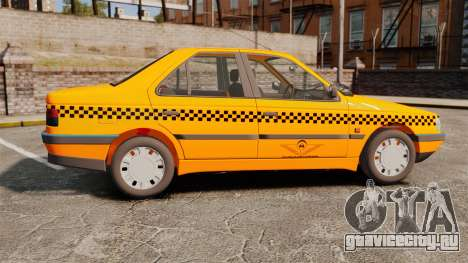 Peugeot 405 GLX Taxi для GTA 4 вид слева