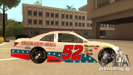 Toyota Camry NASCAR No. 52 TruckerFan для GTA San Andreas вид сзади слева