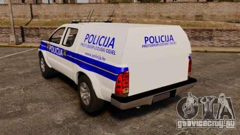 Toyota Hilux Croatian Police v2.0 [ELS] для GTA 4 вид сзади слева