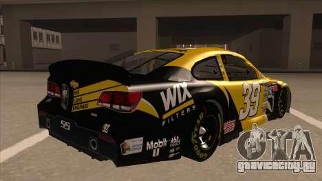 Chevrolet SS NASCAR No. 39  Wix Filters для GTA San Andreas вид справа