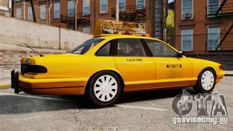 Taxi с новыми дисками v2 для GTA 4 вид слева