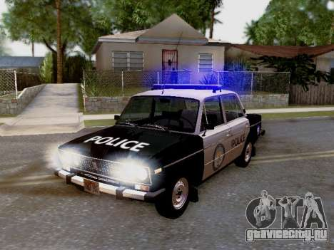 ВАЗ 2106 Полиция Лос Сантос для GTA San Andreas вид сбоку
