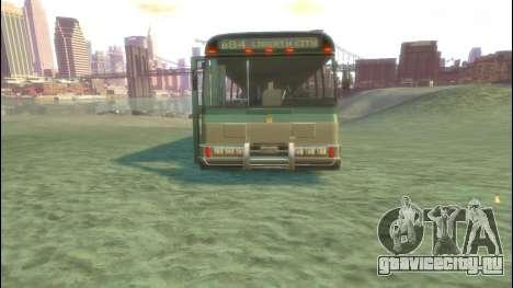 Bus из GTA 5 для GTA 4 вид сзади