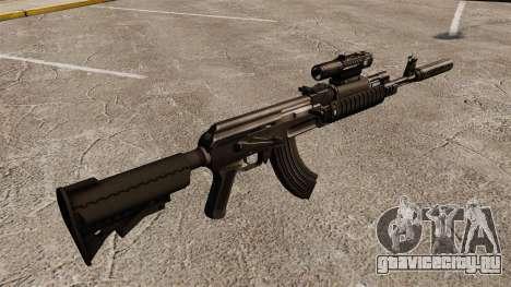 Автомат АК-47 (тактический) для GTA 4 второй скриншот