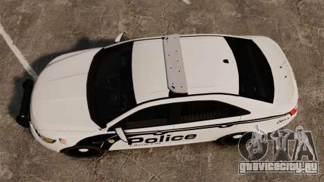 Ford Taurus Police Interceptor 2011 [ELS] для GTA 4 вид справа