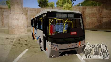 Marcopolo Senior Midi MB OF 1418 Cidade Morena для GTA San Andreas вид слева