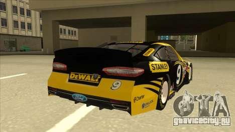 Ford Fusion NASCAR No. 9 Stanley DeWalt для GTA San Andreas вид справа