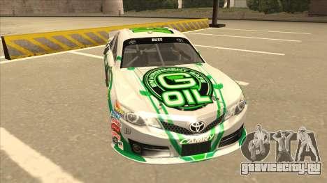 Toyota Camry NASCAR No. 19 G-Oil для GTA San Andreas вид слева