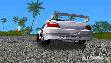 Subaru Impreza WRX v1.1 для GTA Vice City вид снизу