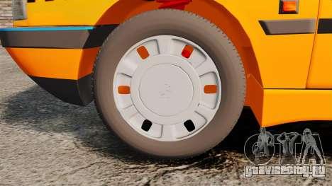 Peugeot 405 GLX Taxi для GTA 4 вид сзади
