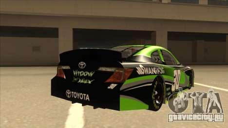 Toyota Camry NASCAR No. 30 Widow Wax для GTA San Andreas вид справа