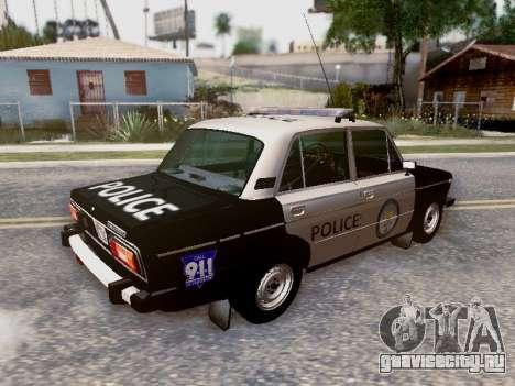 ВАЗ 2106 Полиция Лос Сантос для GTA San Andreas колёса