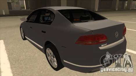 Volkswagen Passat 2.0 Turbo для GTA San Andreas вид сзади