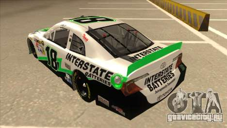 Toyota Camry NASCAR No. 18 Interstate Batteries для GTA San Andreas вид сзади