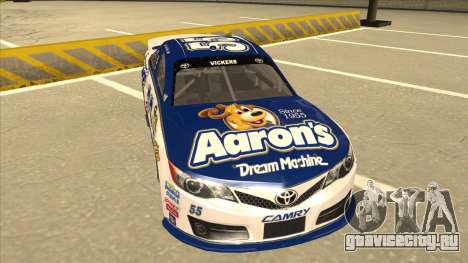 Toyota Camry NASCAR No. 55 Aarons DM white-blue для GTA San Andreas вид слева