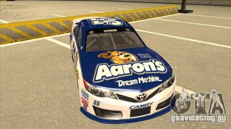 Toyota Camry NASCAR No. 55 Aarons DM white-blue для GTA San Andreas вид слева