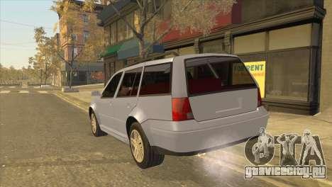 Volkswagen Jetta Wagon для GTA San Andreas вид слева