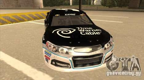 Chevrolet SS NASCAR No. 5 Time Warner Cable для GTA San Andreas вид слева