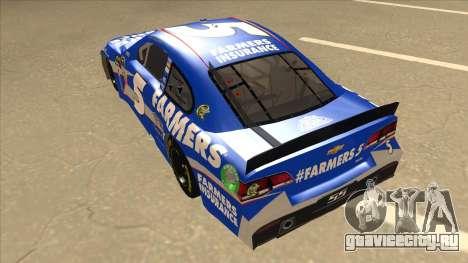 Chevrolet SS NASCAR No. 5 Farmers Insurance для GTA San Andreas вид сзади