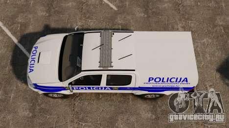 Toyota Hilux Croatian Police v2.0 [ELS] для GTA 4 вид справа