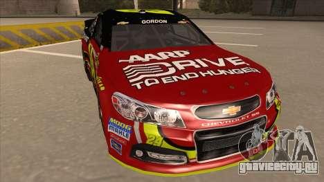 Chevrolet SS NASCAR No. 24 AARP для GTA San Andreas вид слева