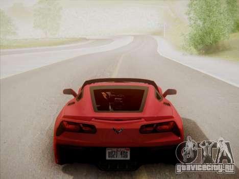 Chevrolet Corvette C7 Stingray 2014 для GTA San Andreas вид сбоку