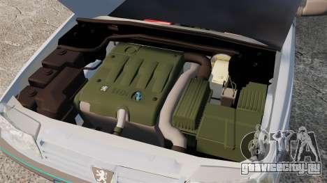 Peugeot 405 GLX Final для GTA 4 вид сзади