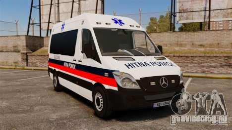 Mercedes-Benz Sprinter Zagreb Ambulance [ELS] для GTA 4