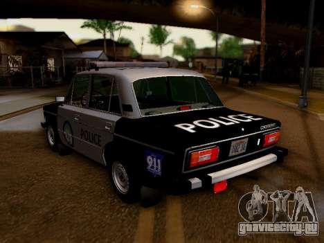 ВАЗ 2106 Полиция Лос Сантос для GTA San Andreas вид сзади слева