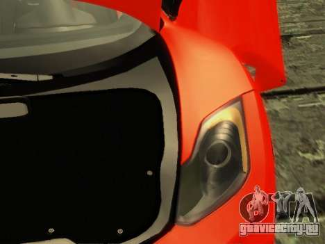 McLaren MP4-12C WheelsAndMore для GTA San Andreas салон