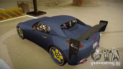 Pontiac Solstice Rhys Millen для GTA San Andreas вид сзади
