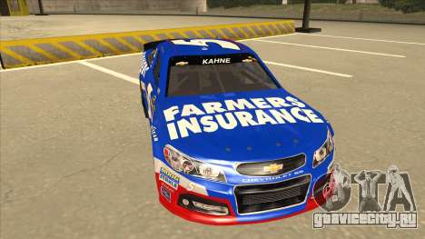 Chevrolet SS NASCAR No. 5 Farmers Insurance для GTA San Andreas вид слева