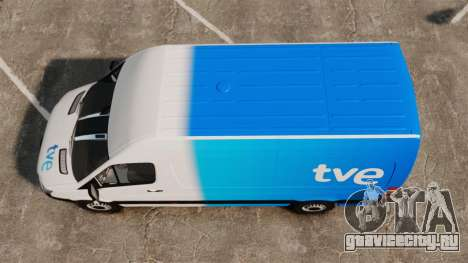 Mercedes-Benz Sprinter Spanish Television Van для GTA 4 вид справа